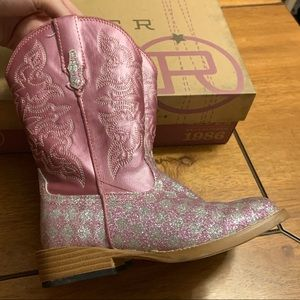 cdabf92e7ce Roper Girls Pink Checker Cowgirl Boots